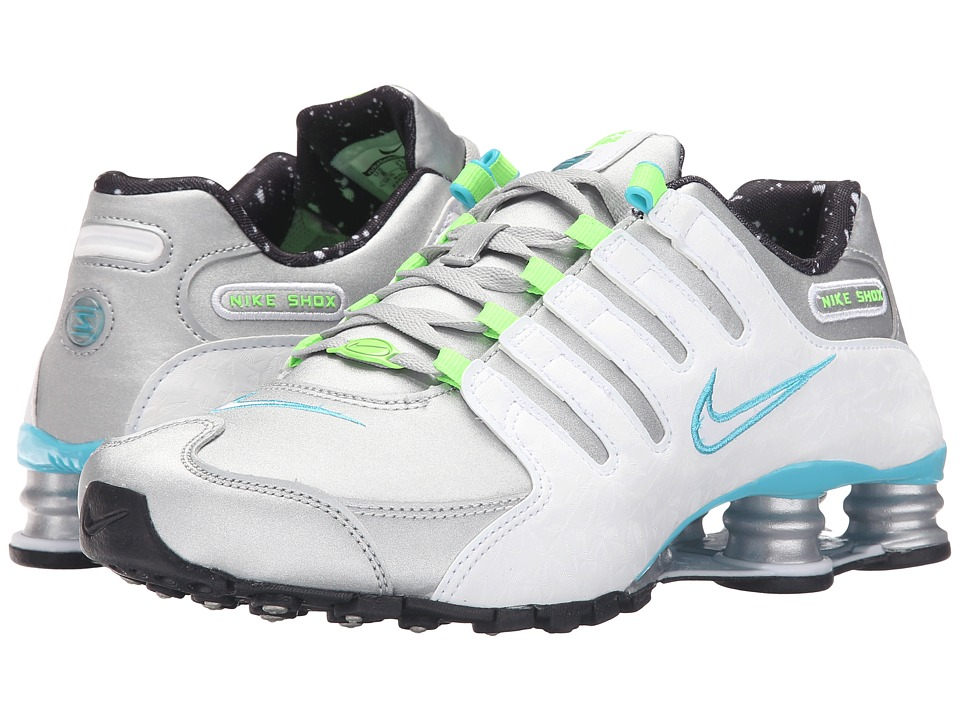 Nike - Shox NZ (Metallic Silver/White/Gamma Blue Electric) Women's Running Shoes