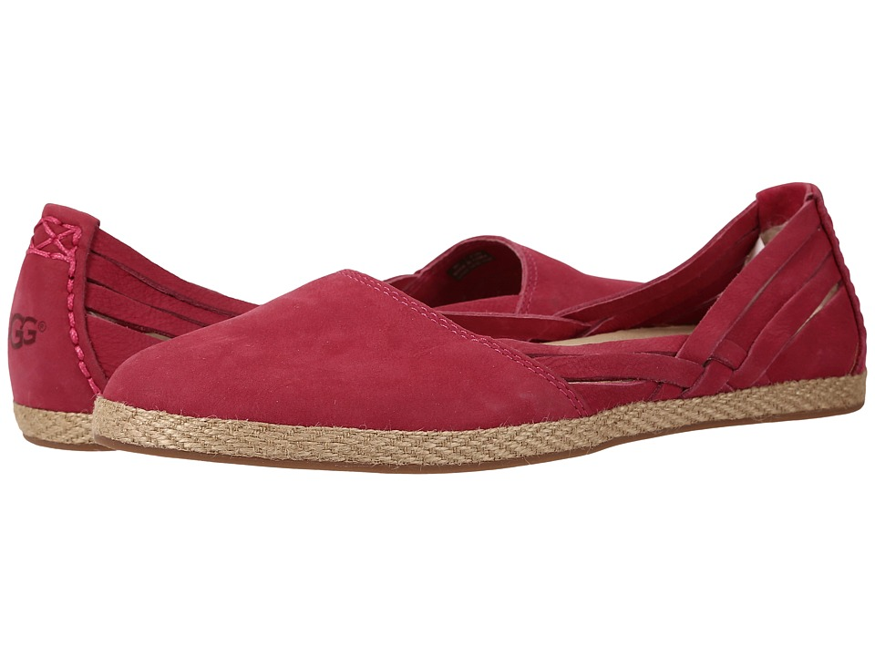 UGG - Tippie (Racing Red Nubuck) Women's Flat Shoes
