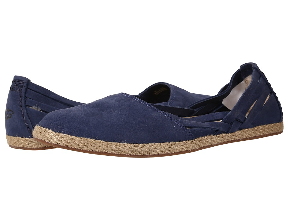 UGG - Tippie (Racing Stripe Blue Nubuck) Women's Flat Shoes
