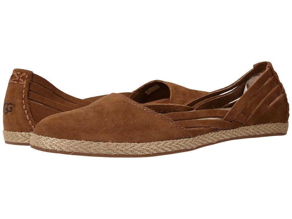 UGG - Tippie (Chestnut Nubuck) Women's Flat Shoes