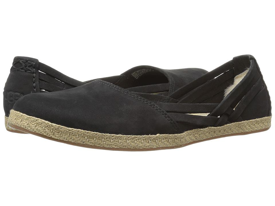 UGG - Tippie (Black Nubuck) Women's Flat Shoes