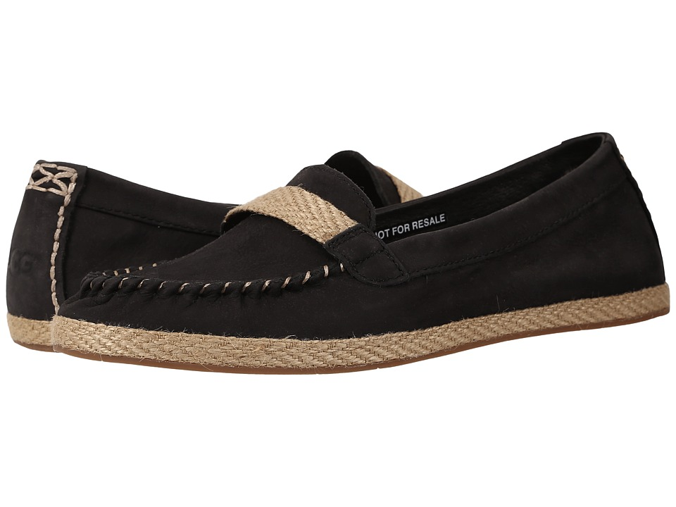 UGG - Rozie (Black Nubuck) Women's Flat Shoes
