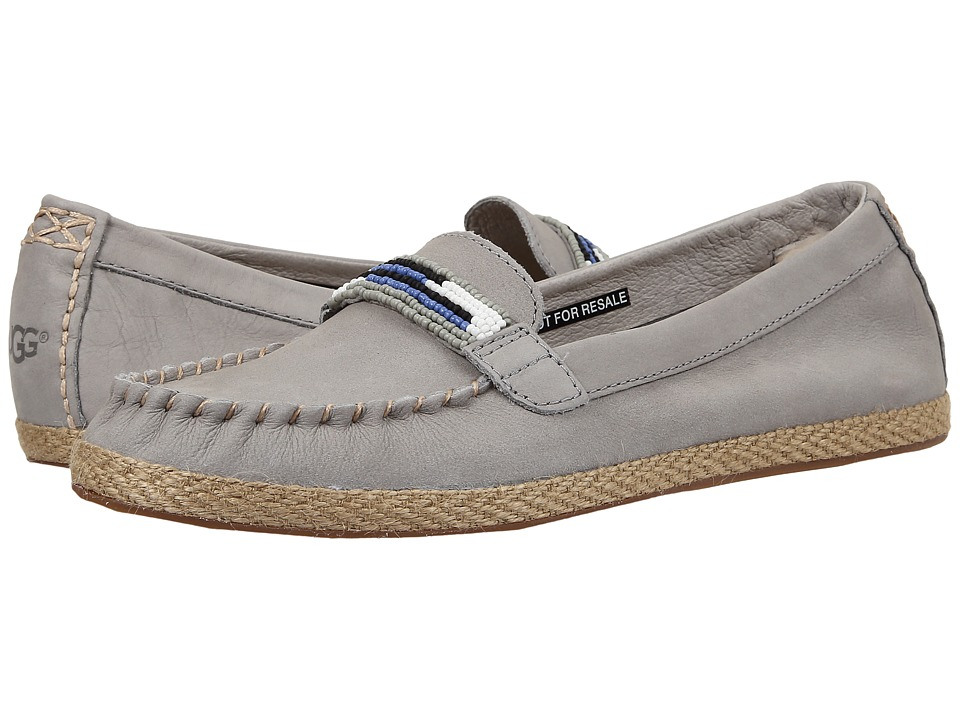 UGG - Rozie Serape Beads (Seal Nubuck) Women's Flat Shoes