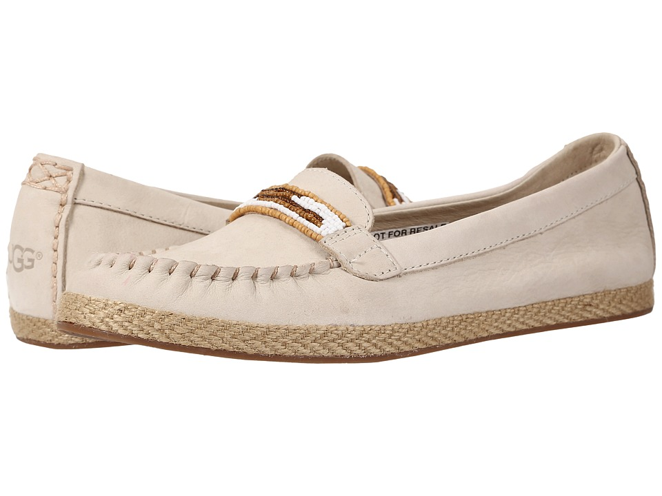 UGG - Rozie Serape Beads (Antique White Nubuck) Women's Flat Shoes