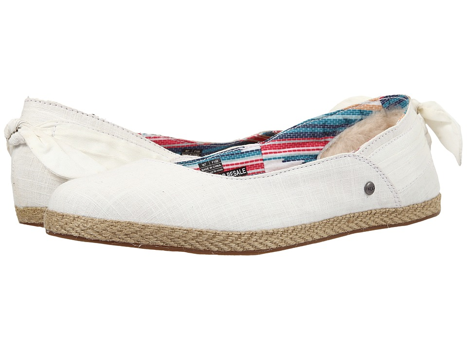 UGG - Perrie (White Wall Canvas) Women's Flat Shoes