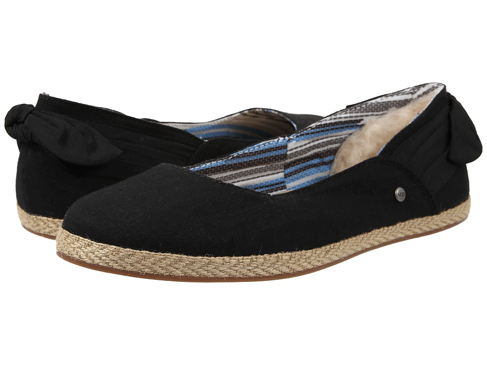 UGG - Perrie (Black Canvas) Women's Flat Shoes