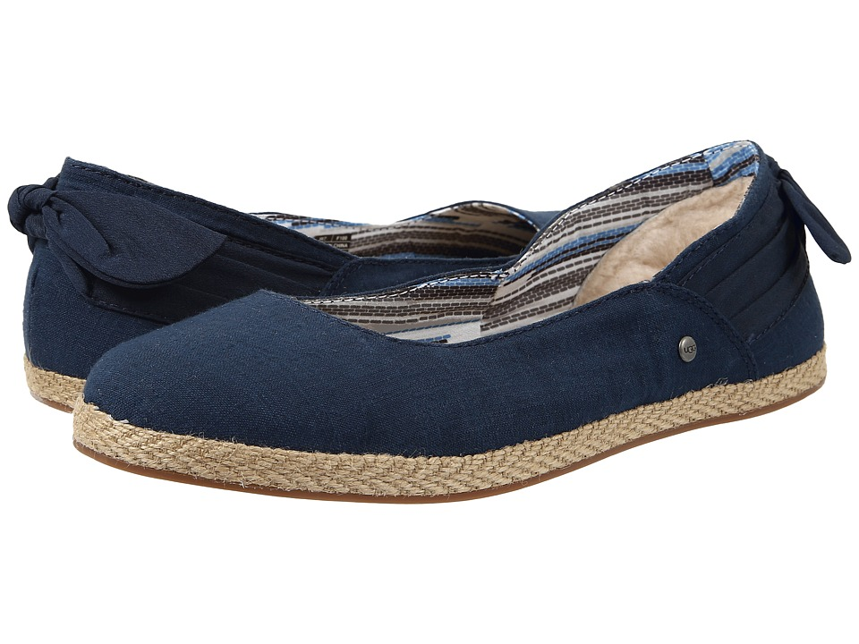 UGG - Perrie (Navy Canvas) Women's Flat Shoes