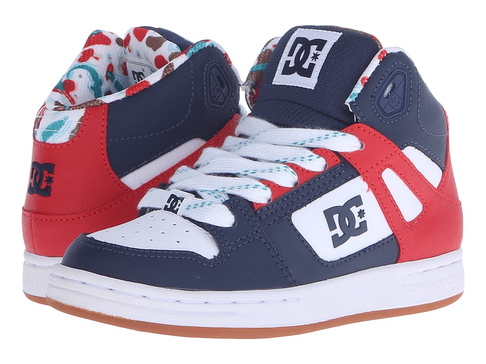 DC Kids - Rebound SE (Little Kid) (Black/Red Print) Boys Shoes