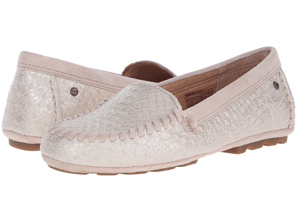 UGG - Dari Metallic Basket (Soft Gold) Women's Slip on Shoes