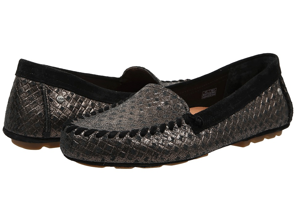 UGG - Dari Metallic Basket (Black) Women's Slip on Shoes