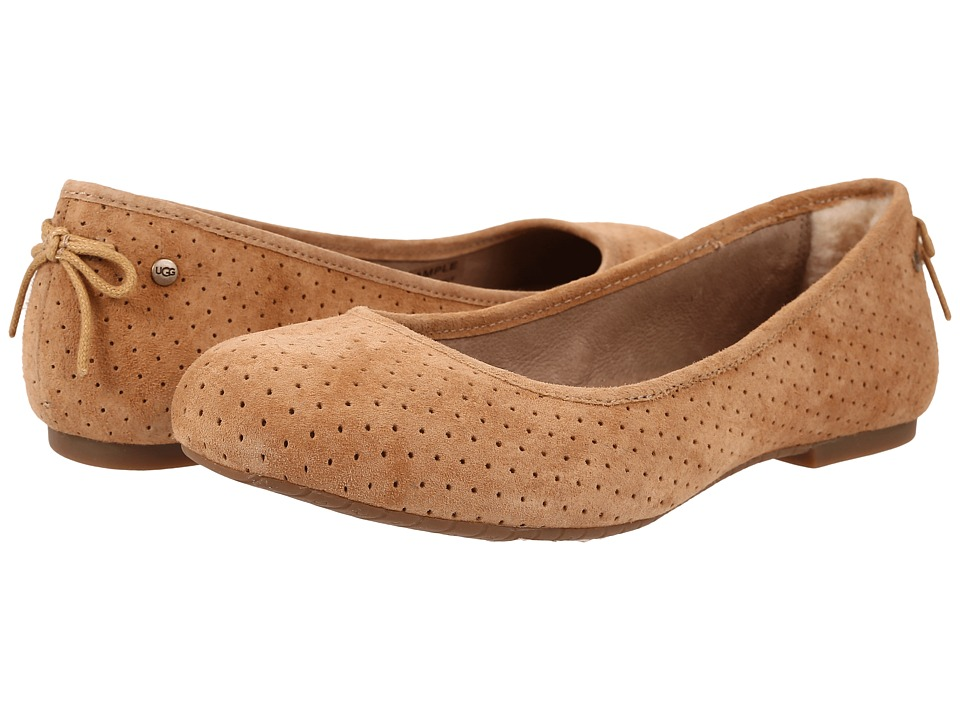 UGG - Karlina Geo Perf (Tawny Suede) Women's Flat Shoes