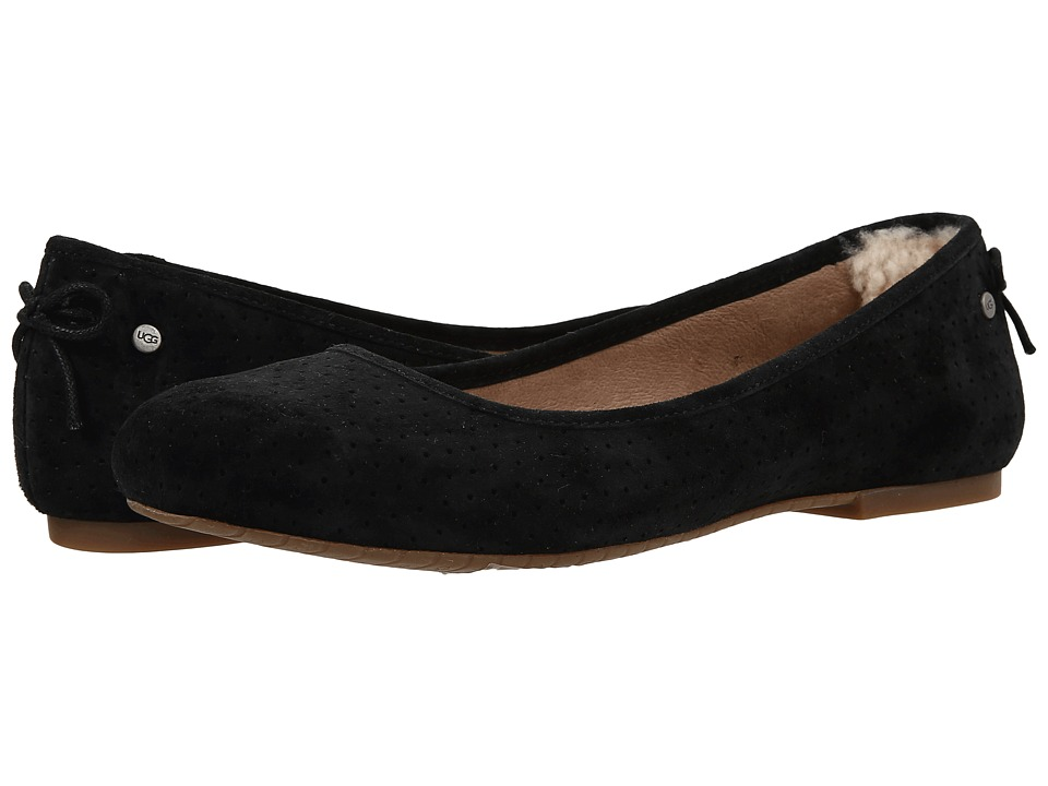 UGG - Karlina Geo Perf (Black Suede) Women's Flat Shoes
