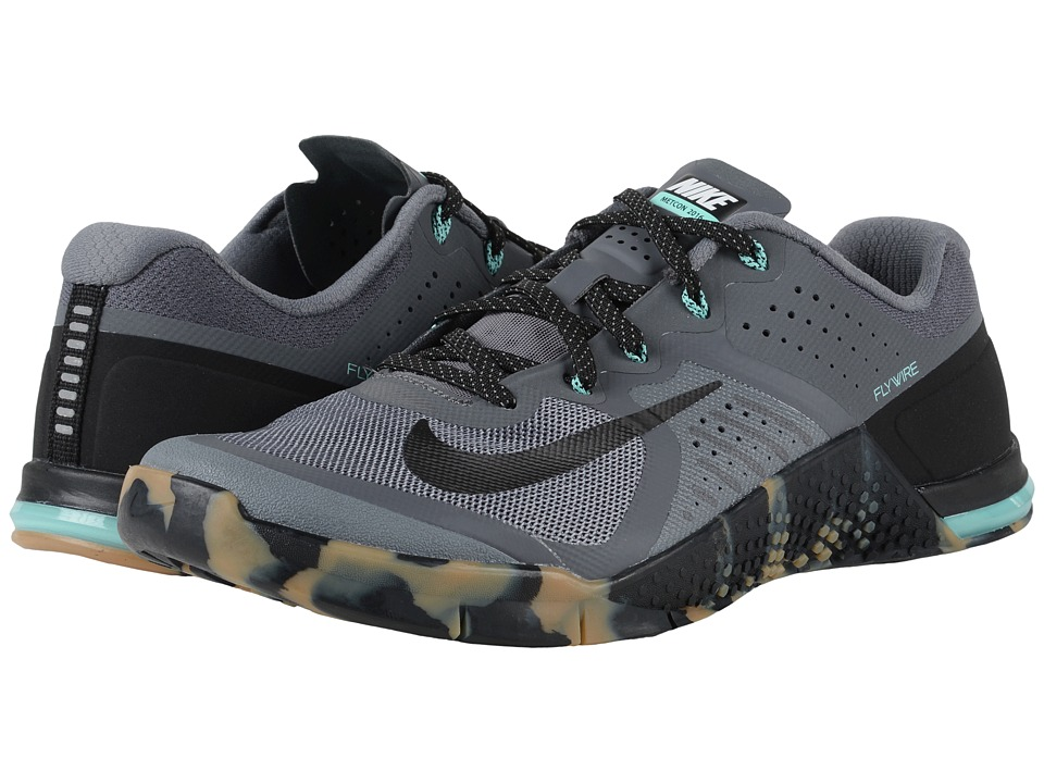 Nike - Metcon 2 (Dark Grey/Hyper Turquoise/Gum Medium Brown/Black) Men's Cross Training Shoes