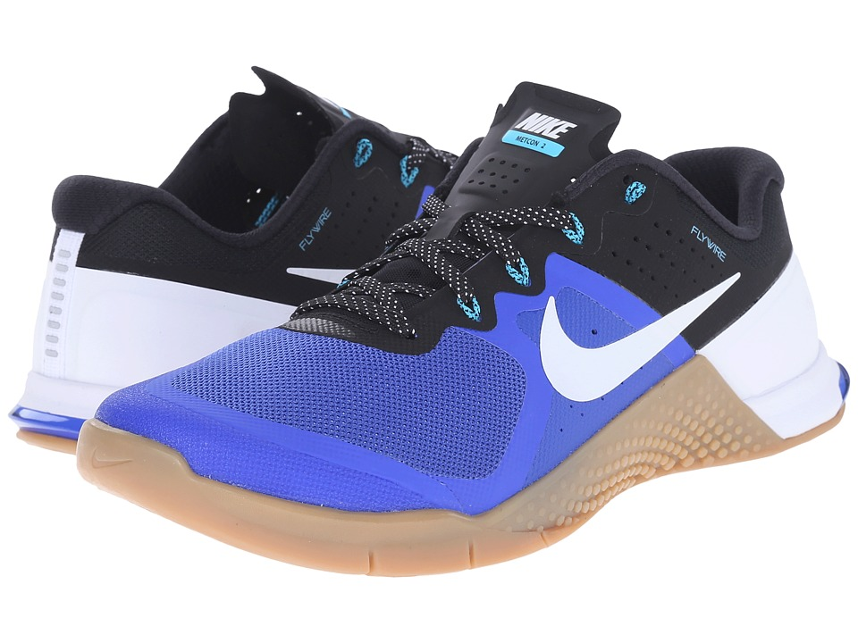 Nike - Metcon 2 (Racer Blue/Black/Gum Medium Brown/White) Men