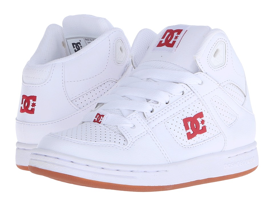 DC Kids - Rebound (Little Kid) (White/Red) Kids Shoes