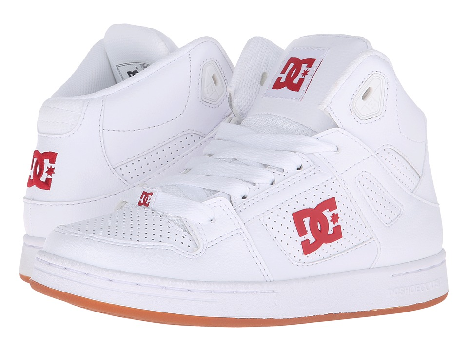 DC Kids - Rebound (Big Kid) (White/Red) Kids Shoes