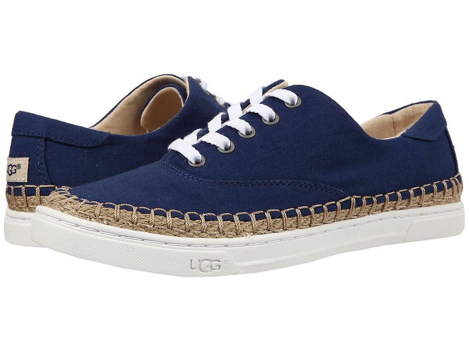 UGG - Eyan II (Racing Stripe Blue) Women's Lace up casual Shoes