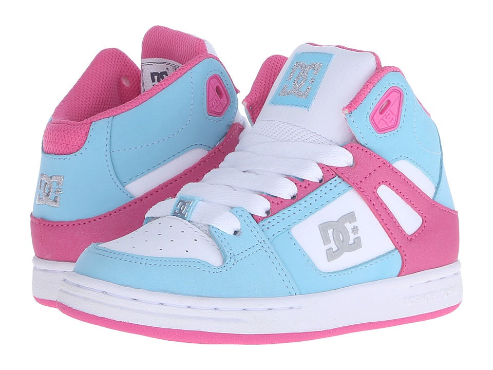 DC Kids - Rebound (Little Kid) (Cyan/Magenta) Girls Shoes
