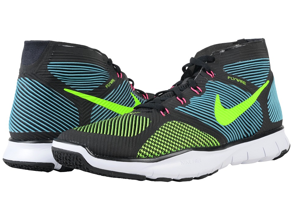 Nike - Free Train Instinct (Black/Gamma Blue/Hyper Pink/Electric Green) Men's Cross Training Shoes