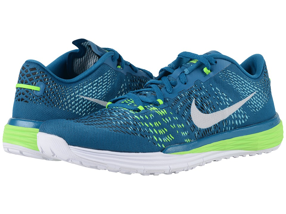 Nike - Lunar Caldra (Black/Gamma Blue/Hyper Pink/Electric Green) Men's Cross Training Shoes