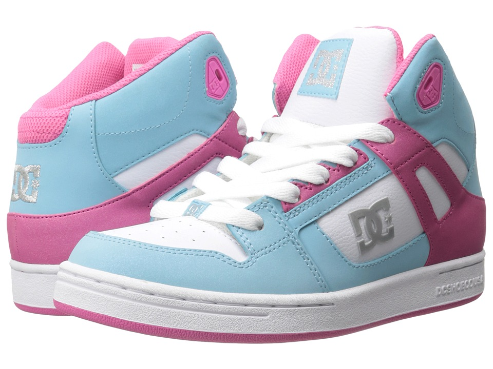 DC Kids - Rebound (Big Kid) (Cyan/Magenta) Girls Shoes