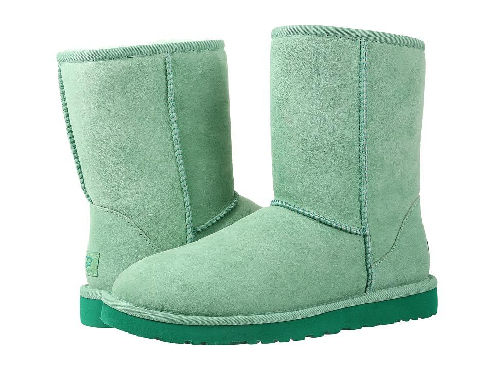 UGG - Classic Short (Green Glass Twinface) Women's Boots