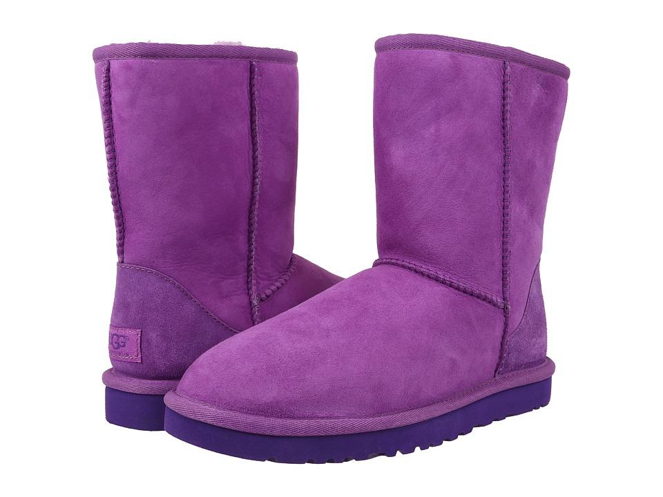 UGG - Classic Short (Crazy Plum Twinface) Women's Boots