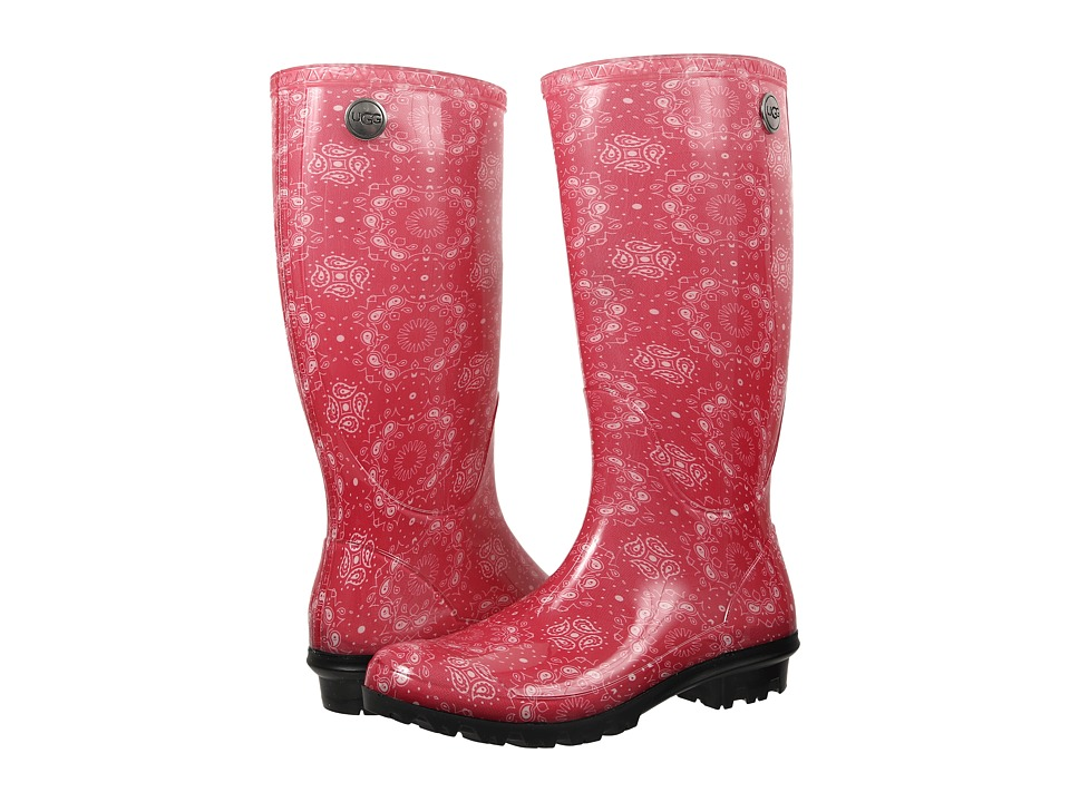 UGG - Shaye Bandana (Racing Red Rubber) Women's Pull-on Boots