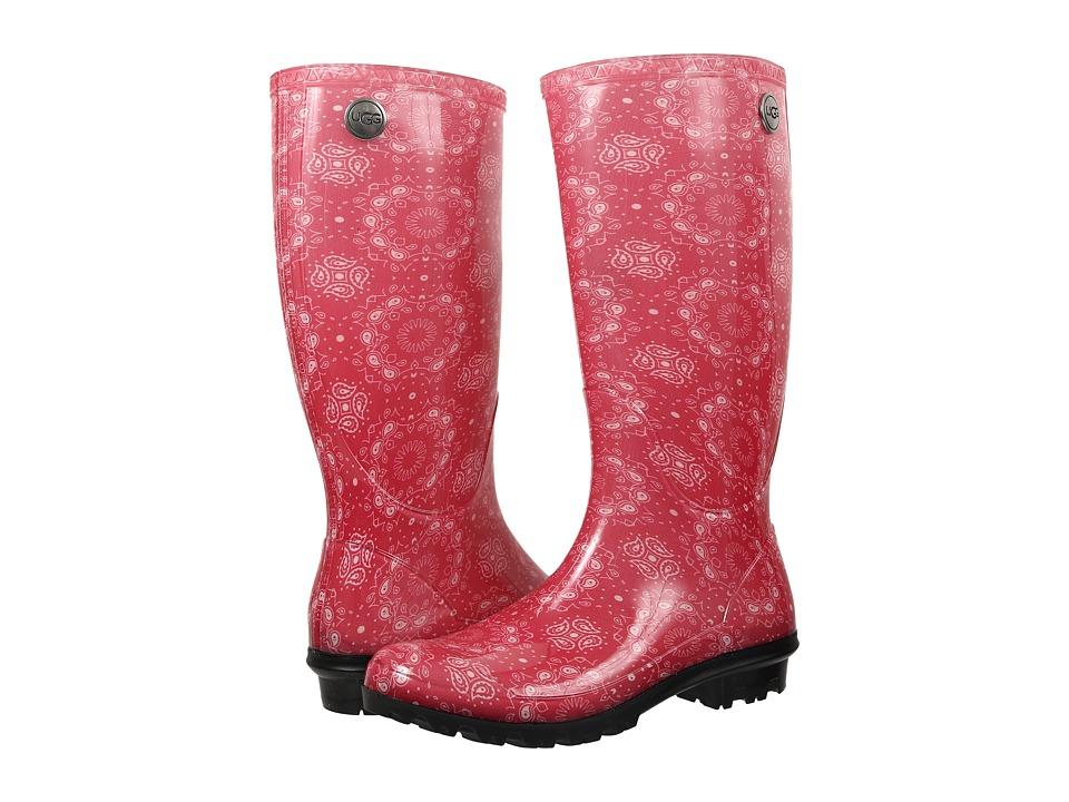UGG - Shaye Bandana (Racing Red Rubber) Women's Pull-on Boots