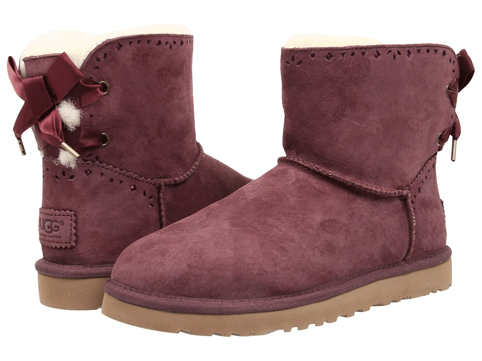 UGG - Dixi Flora Perf (Port Water Resistant Suede) Women's Pull-on Boots