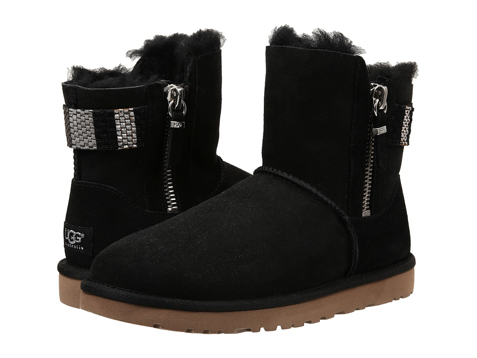 UGG - Aztek Woven Suede (Black Twinface) Women's Pull-on Boots