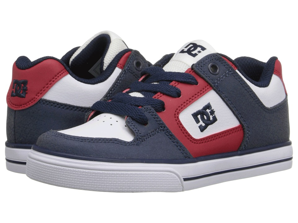 DC Kids - Pure (Little Kid) (Black/Red/White) Boys Shoes