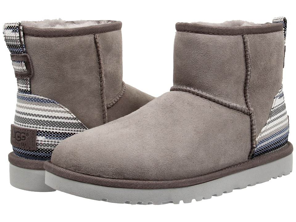 UGG - Classic Mini Serape (Seal Twinface) Women's Pull-on Boots