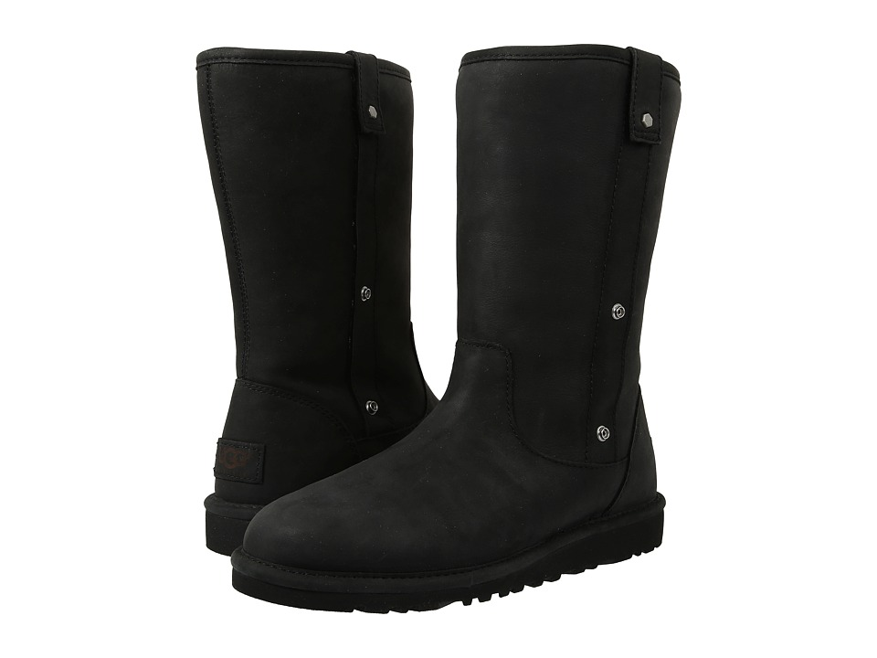 UGG - Malindi (Black Water Resistant Leather) Women's Pull-on Boots