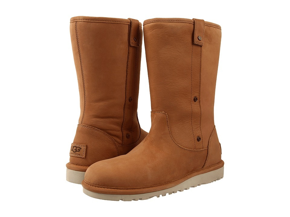 UGG - Malindi (Chestnut Water Resistant Leather) Women's Pull-on Boots