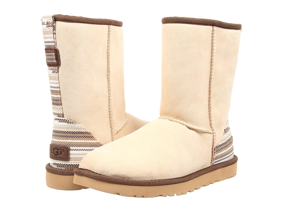 UGG - Classic Short Serape (Cream Twinface) Women's Pull-on Boots