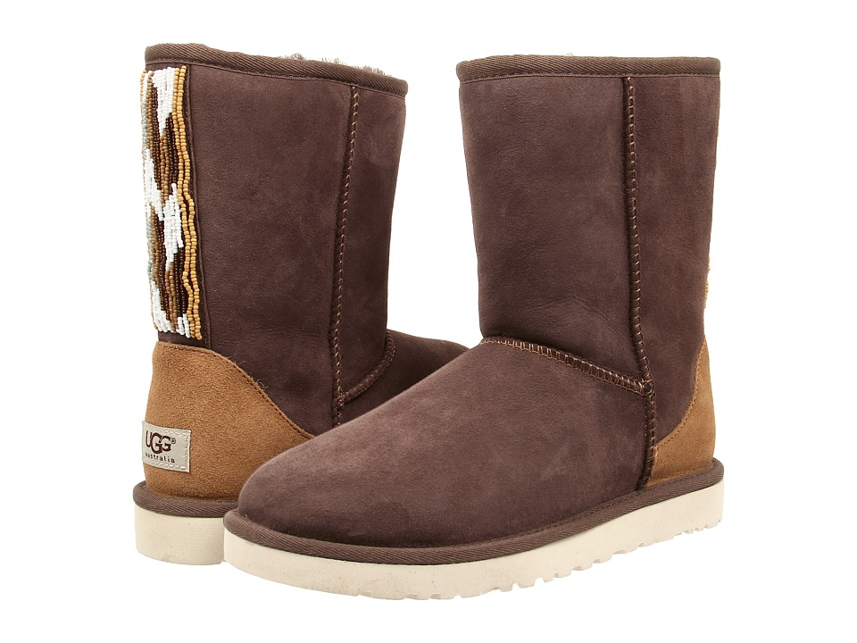 UGG - Classic Short Serape Beads (Chocolate Twinface) Women