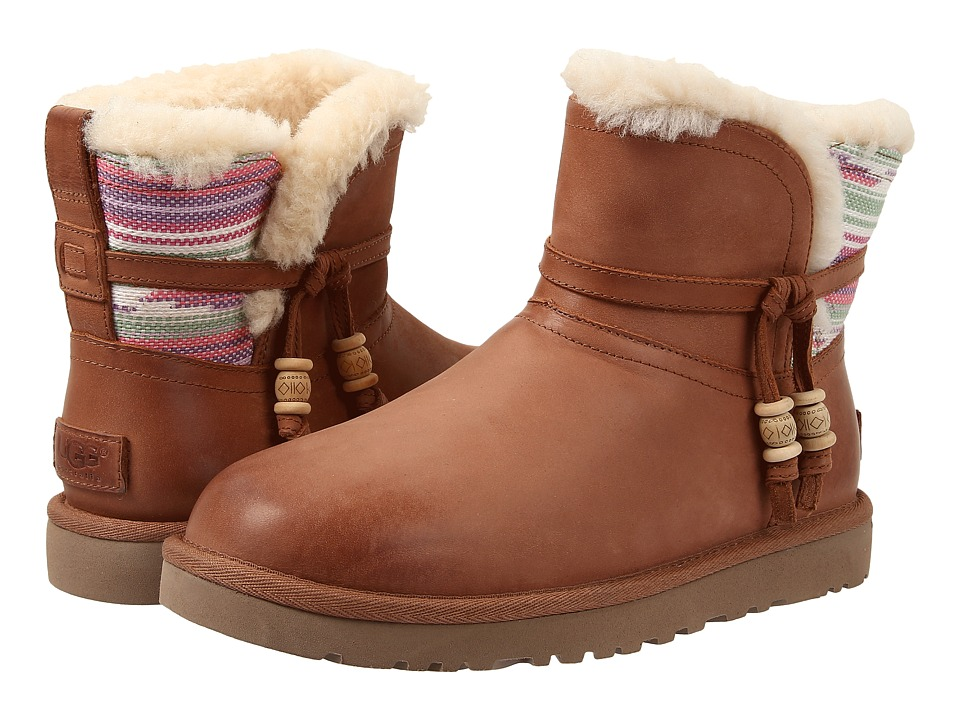 UGG - Auburn Serape (Chestnut Water Resistant Leather) Women's Pull-on Boots