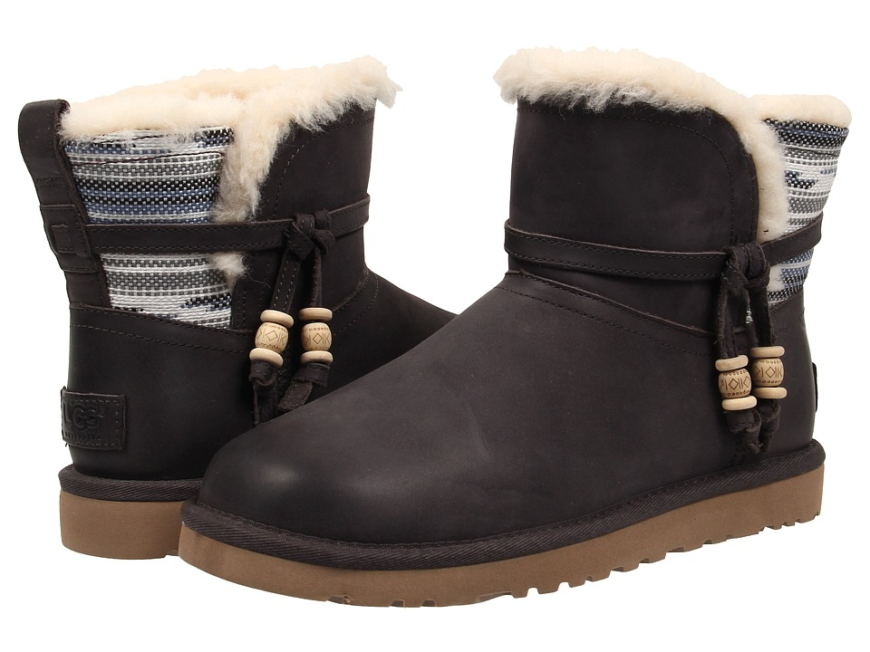 UGG - Auburn Serape (Charcoal Water Resistant Leather) Women's Pull-on Boots