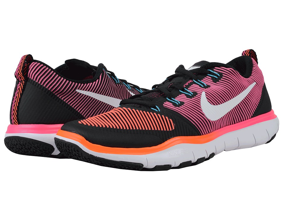 Nike - Free Train Versatility (Black/Total Crimson/Hyper Pink/White) Men's Cross Training Shoes