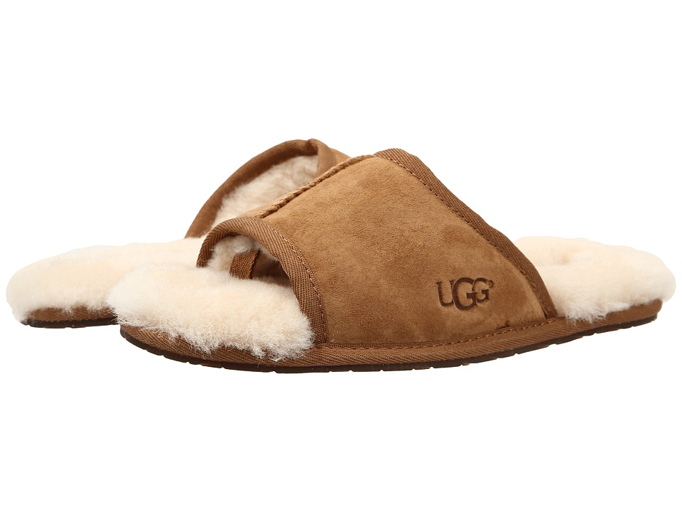UGG - Mellie (Chestnut Water Resistant Suede) Women's Slide Shoes