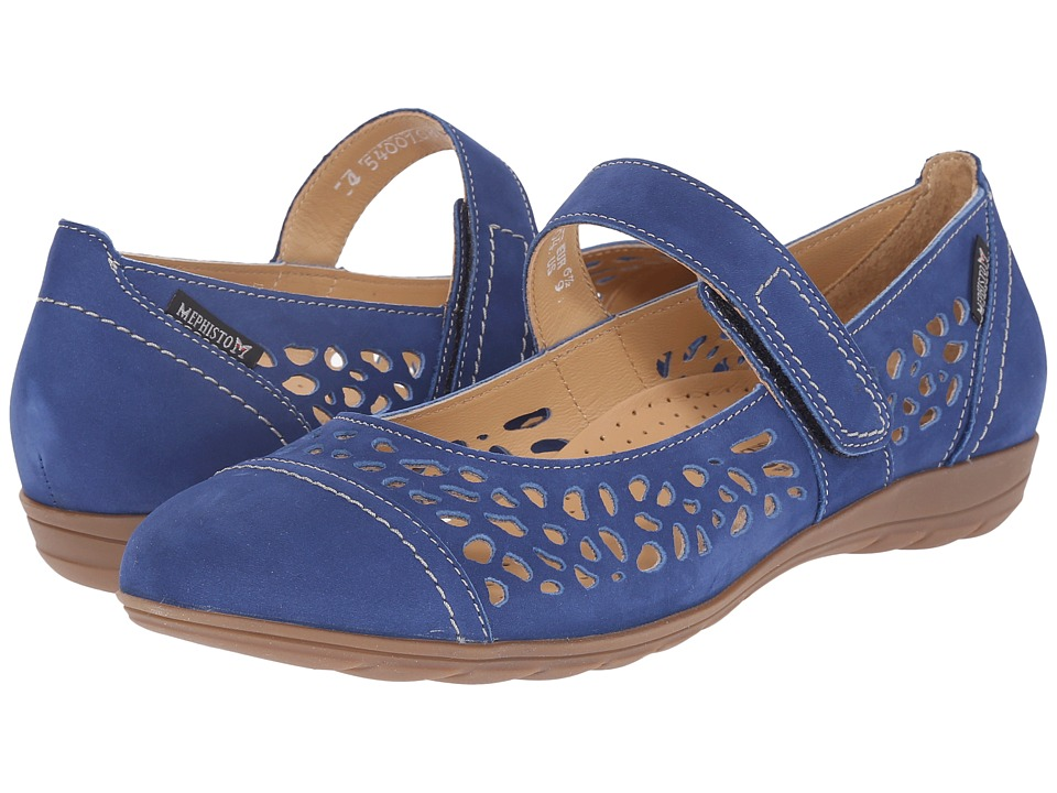 Mephisto - Ella (Electric Blue Bucksoft) Women's Sandals