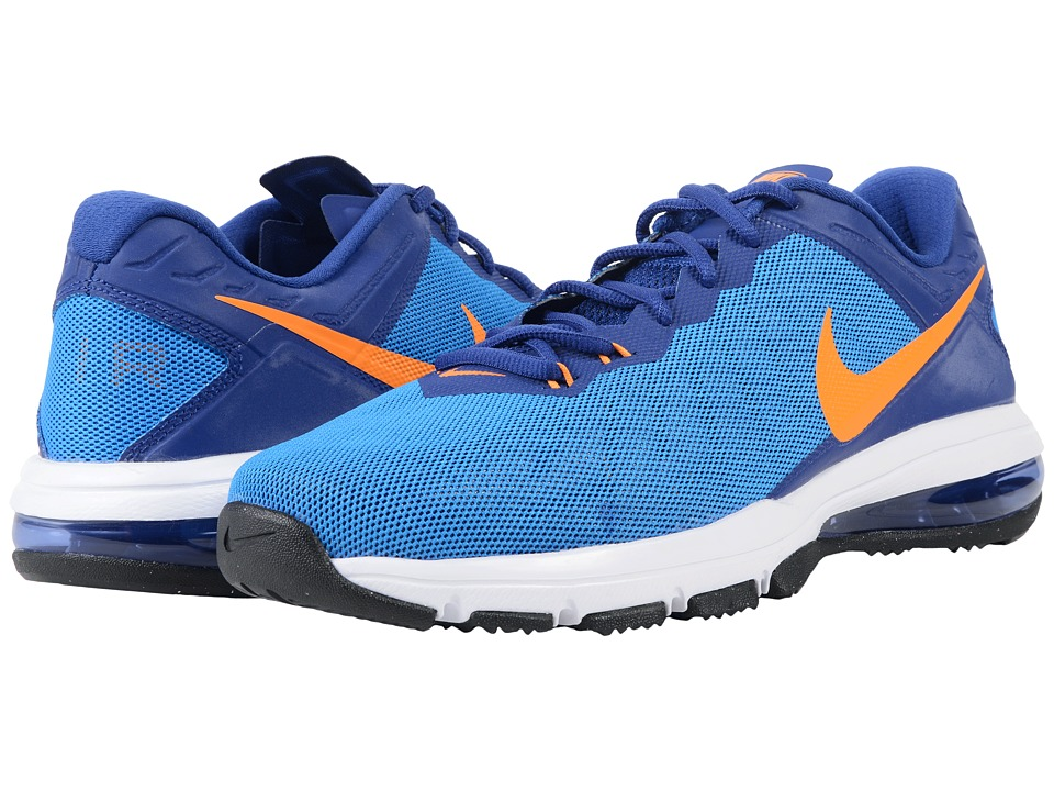 Nike - Air Max Full Ride TR (Photo Blue/Deep Royal/Gamma Blue/Vivid Orange) Men's Cross Training Shoes
