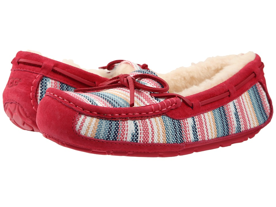 UGG - Symona Serape (Sunset Red Jacquard) Women's Moccasin Shoes