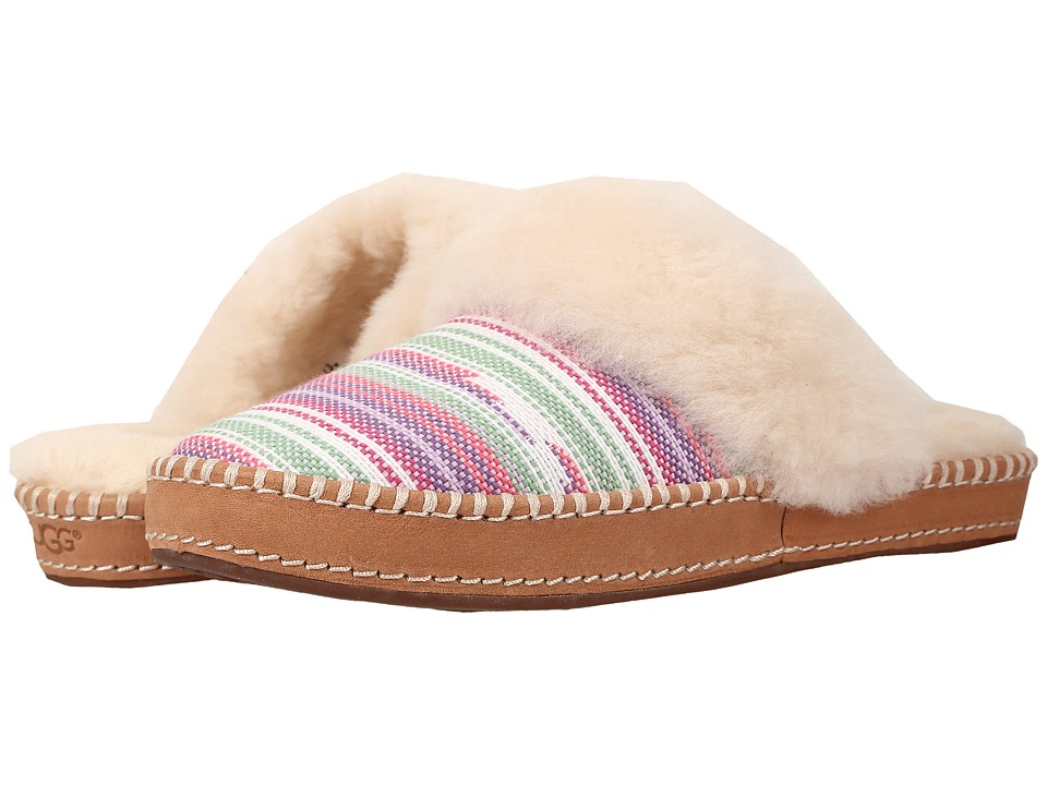 UGG - Aira Serape (Furious Fuchsia Jacquard) Women's Slip on Shoes
