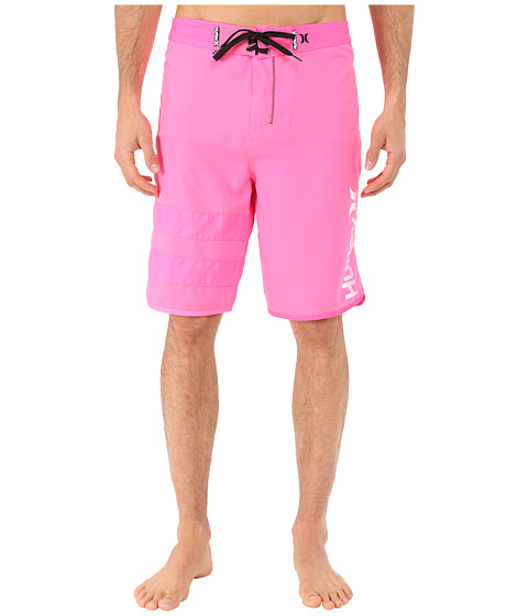 Hurley - Block Party Core Light 21 Boardshorts (Neon Pink) Men