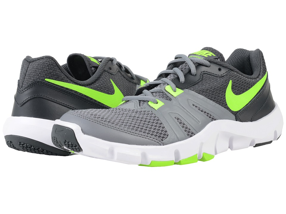 Nike - Flex Show TR 4 (Cool Grey/Anthracite/White/Electric Green) Men's Cross Training Shoes