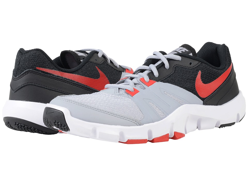 Nike - Flex Show TR 4 (Wolf Grey/Black/White/University Red) Men's Cross Training Shoes