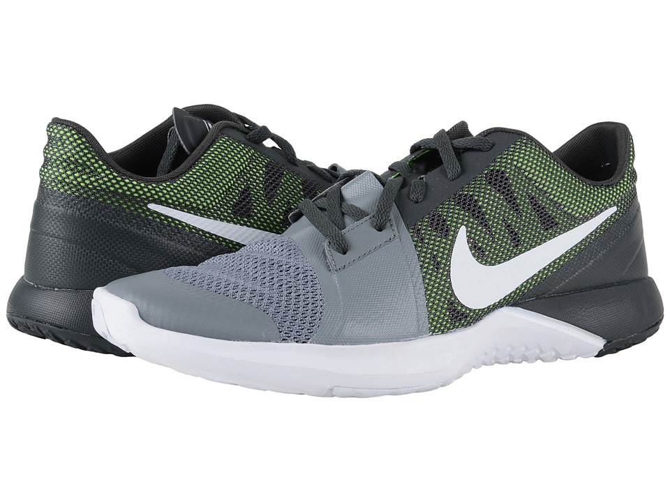 Nike - FS Lite Trainer 3 (Cool Grey/Anthracite/Electric Green/White) Men's Cross Training Shoes