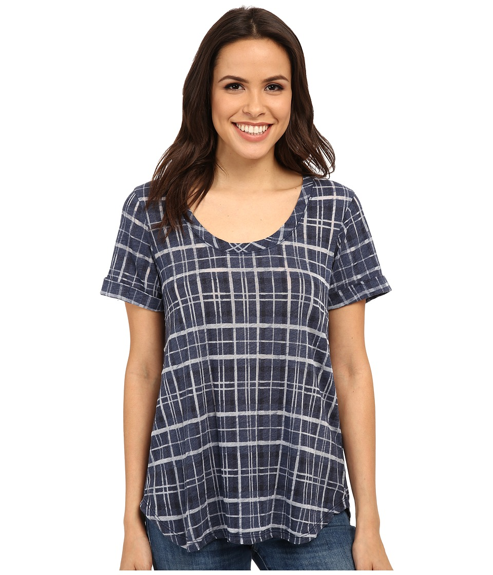 Allen Allen Plaid Tee (Lapis) Women